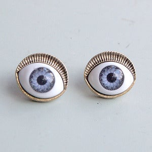 Image of Evil Eye Stud Earrings