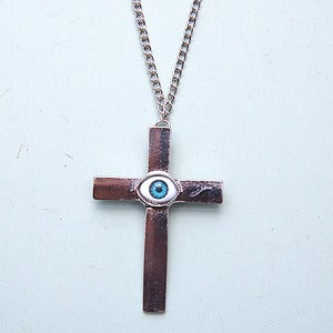 Image of Evil Eye Cross Necklace