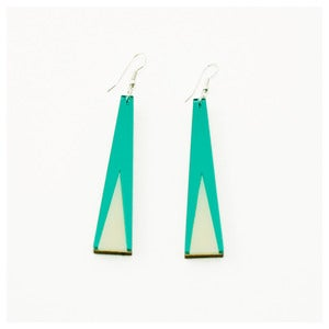 Image of Tassel Earrings - Coloured Mirror