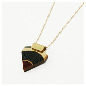 Image of Sun Point Necklace - Black