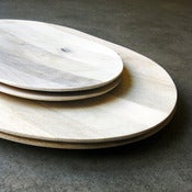Image of white mango wood platter - large