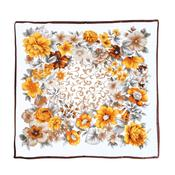 Image of  Vintage Style Floral Scarf - Cream
