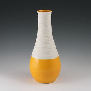 Image of Large Groove Vase in Orange