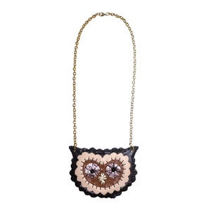 Image of Brown Owl Necklace