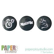 Image of Chalk It Up - Set of 3 flair buttons