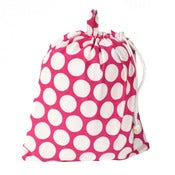 Image of Extra Large Laundry Bag for Dorm and Travel : Hot Pink and White Dots