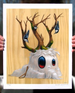 "Image of Large ""Oog"" giclee print"