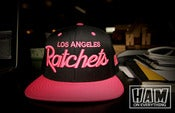 Image of LA RATCHETS SNAPBACK (pink/black)