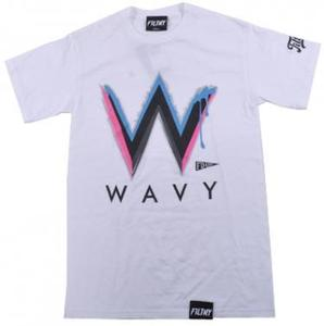 Image of Wavy Tee SS white / south beach