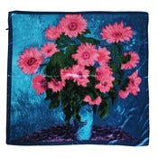 Image of Vintage Style Floral Square Scarf