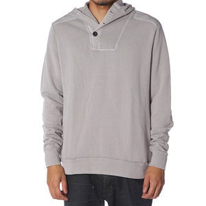 Image of BUTTON HOOD | GREY