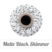 Image of Matte Black Shimmer - Matte Black Shimmer &amp; Natural Baker's Twine