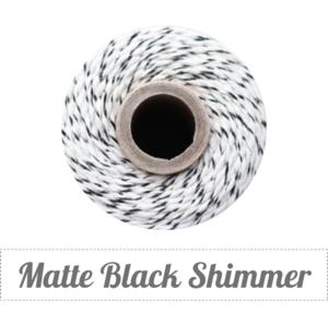 Image of Matte Black Shimmer - Matte Black Shimmer & Natural Baker's Twine