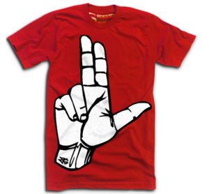 Image of THE NEW L'S UP RED<br> (CARDINAL ON BACK)