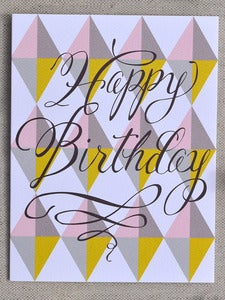 "Image of Neo Geo ""Happy Birthday"" Note Card"