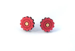 Image of Pink Flower Earrings