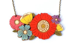 Image of Poppy Bouquet Necklace