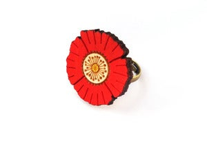 Image of Red Flower Ring