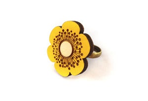Image of Yellow Flower Ring