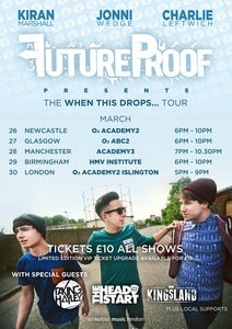 Image of FutureProof 'When This Drops... Tour' Limited Edition Tour Poster