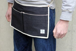 Image of Trader : Japanese selvage bellow pocket belt apron