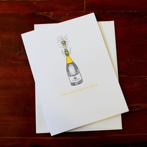 Image of Champagne Bottle Congratulations Card