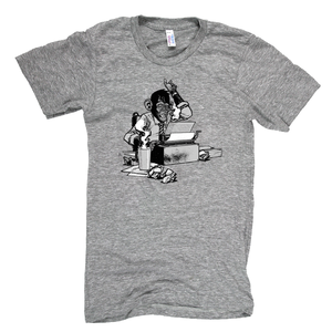 Image of Journalist Chimp Tee by Nate Van Dyke