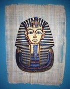 Image of King Tut Painting on Papyrus Paper