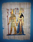 Image of Love Story Painting on Papyrus Paper