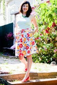 Image of flower power wrap skirt