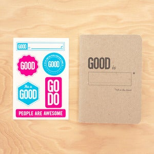 Image of GOOD Scoutbook & Sticker Set