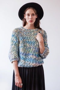 Image of kingston thick & thin merino sweater (shown in Carnival)