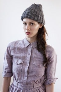 Image of jarvis toque of silk+alpaca+merino wool (shown in grey)