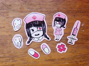 Image of nurse janey stickers