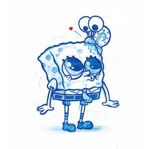Image of Spongebob and Gary A5 Print! *FREE SHIPPING!*