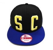 "Image of SO FRESH CLOTHING ""BIG BLOCK 2.0"" NEW ERA SNAPBACK (BLACK/RYL)"
