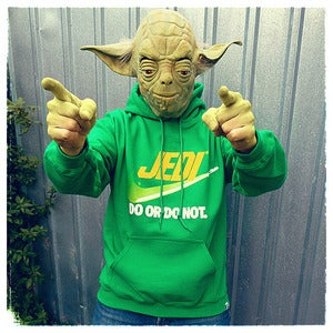 "Image of ""Brand Wars: Jedi"" - Irish Green unisex pullover hoody"