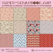 Image of Super-Scrapbook Paper Pad~LOVE