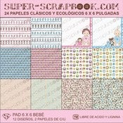Image of Super-Scrapbook Paper Pad~Bebe