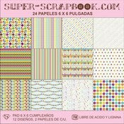 Image of Super-Scrapbook Paper Pad~Cumpleaos