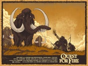 Image of Quest for Fire - Screen Printed Poster