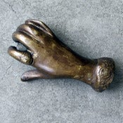 Image of bronze hand