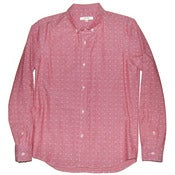 Image of Red Chambray Dobby LS Steven Shirt