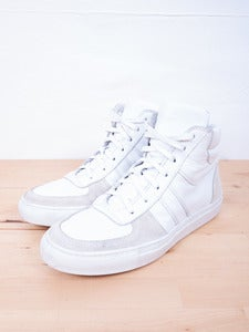 Image of Blanc and Noir - Hightop Trainers