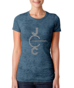 Image of JCC Adult Tees - Women's Sparkle, Men's Printed