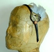 Image of Floral Brocade Leaf Headband