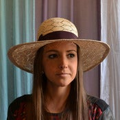 Image of Fancy sisal wide brim beach hat ($270)