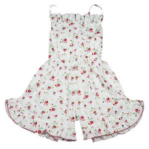 Image of Pretty fresh floral and white playsuit 10 to 12 years
