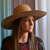 Image of wide brim beach hat ($175) - NEW