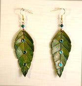 Image of Green Leaf earrings